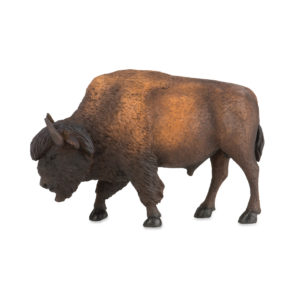 side view of bison