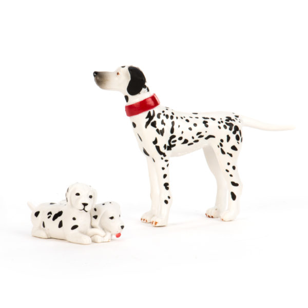 dalmation and puppies