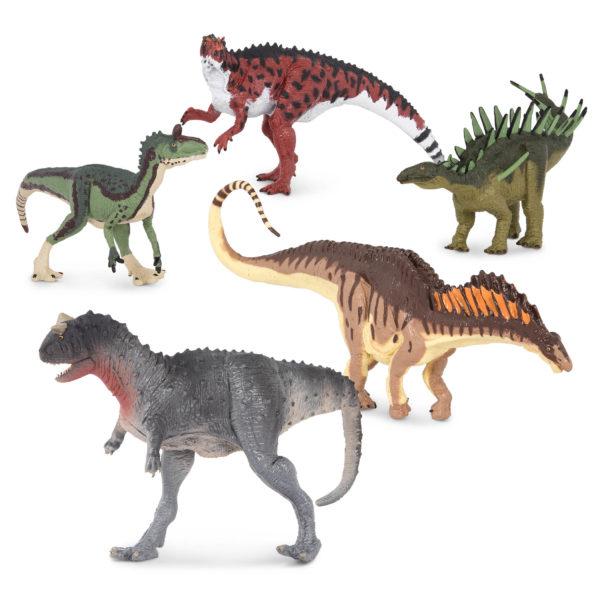 five dinosaurs
