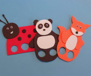 felt animal finger puppets.